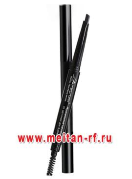 Механический карандаш со щеточкой для бровей №1